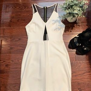 Express fitted dress with lace